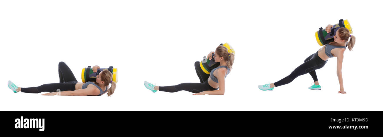 Core bag exercise - Stock Image