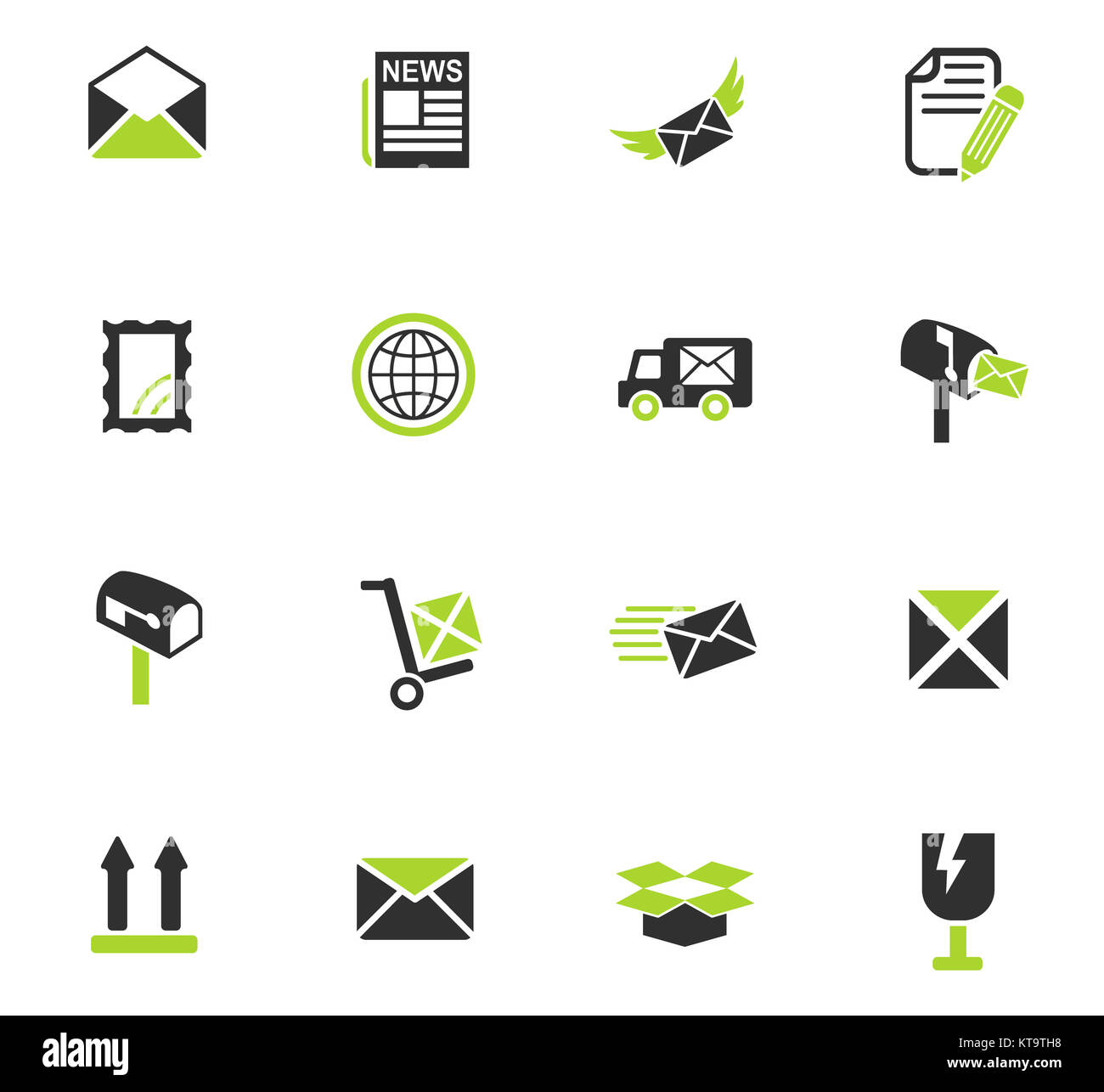 post service icon set - Stock Image