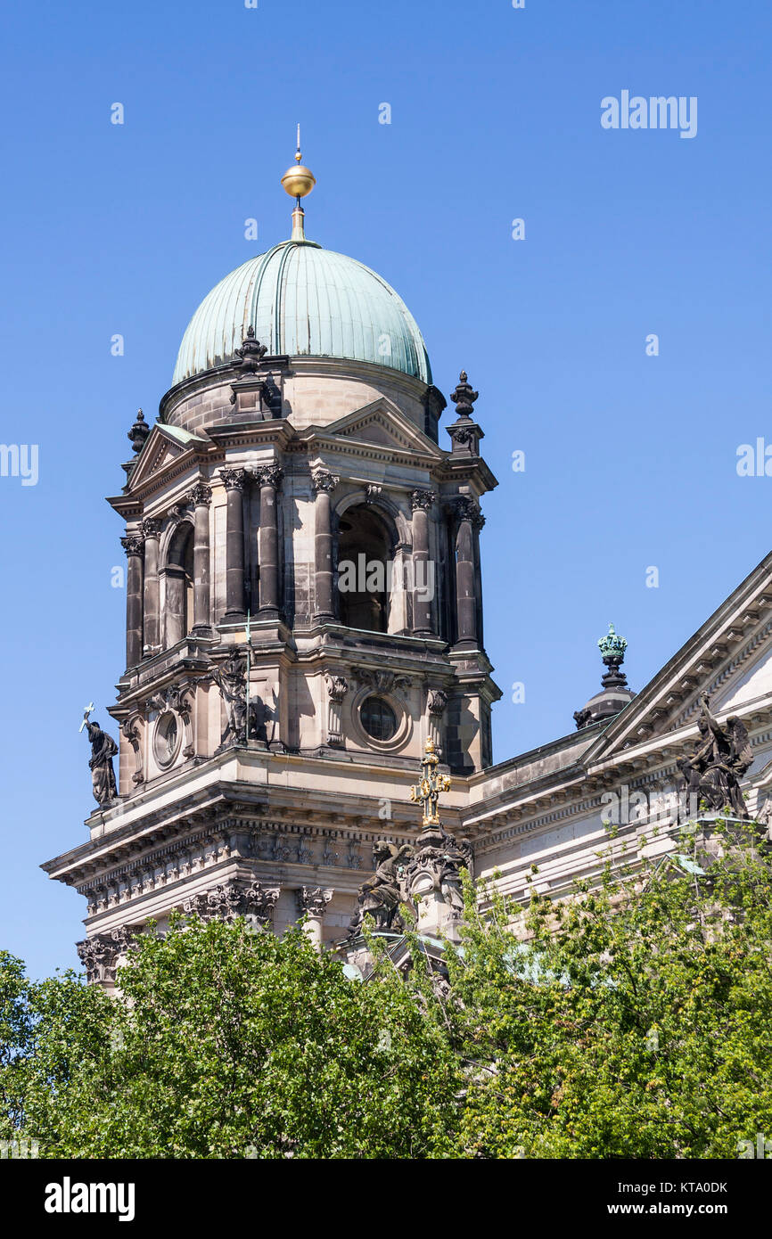 side dome of the berlin cathedral - Stock Image
