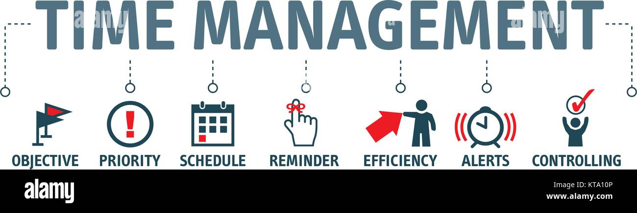 Banner Time Management Concept Vector Illustration With Icons Stock Vector Image Art Alamy