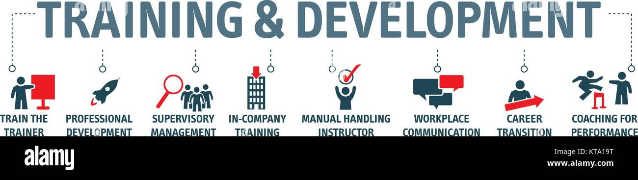 Training And Development Concept Vector Illustration Banner With Stock Vector Image Art Alamy