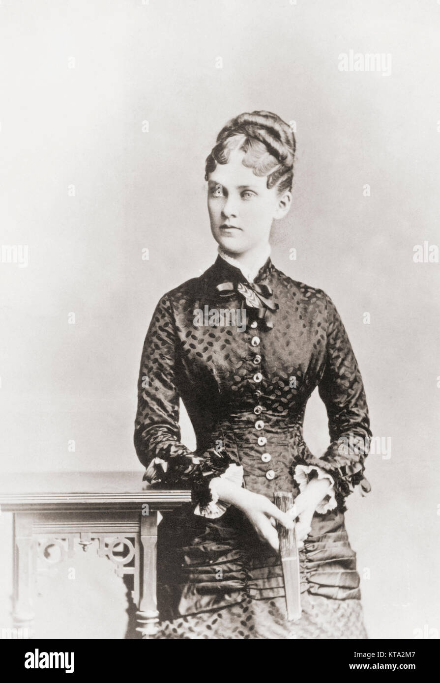 Alice Hathaway Lee Roosevelt, 1861-1884, first wife of President Theodore Roosevelt. - Stock Image