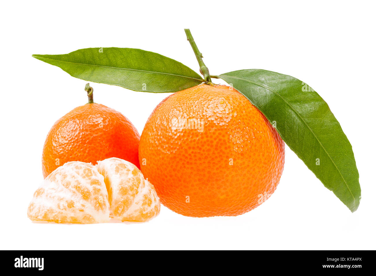 Fruits of clementine isolated on white background Stock Photo