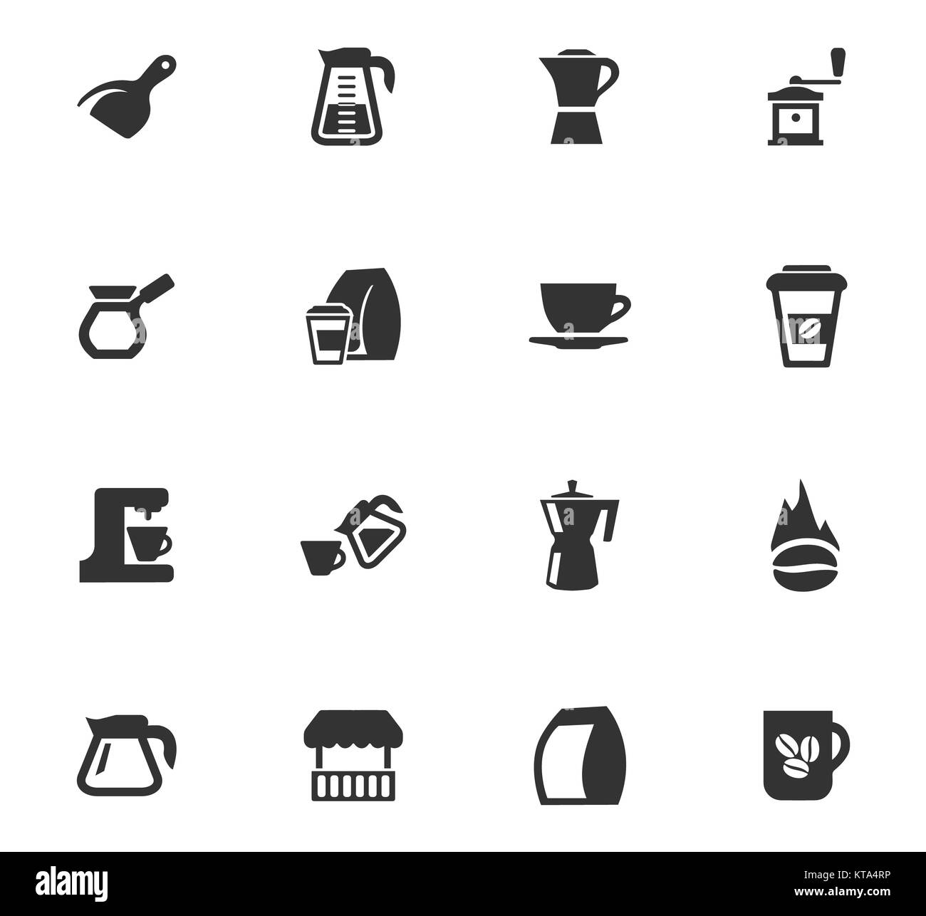 Coffee icons set - Stock Image