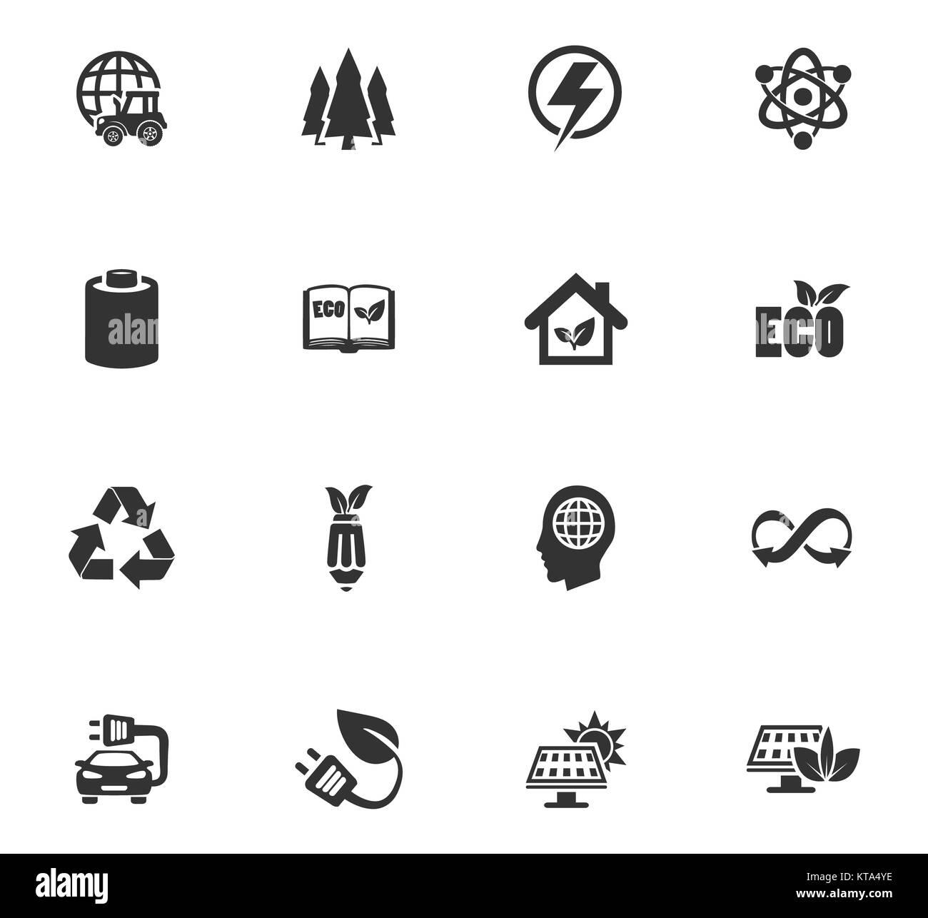 BIO Fuel industry icons set - Stock Image