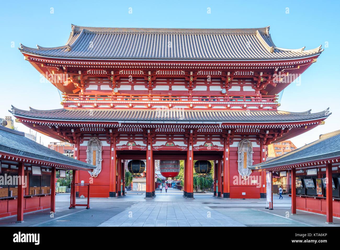 kaminarimon of sensoji in Asakusa, Tokyo, Japan - Stock Image