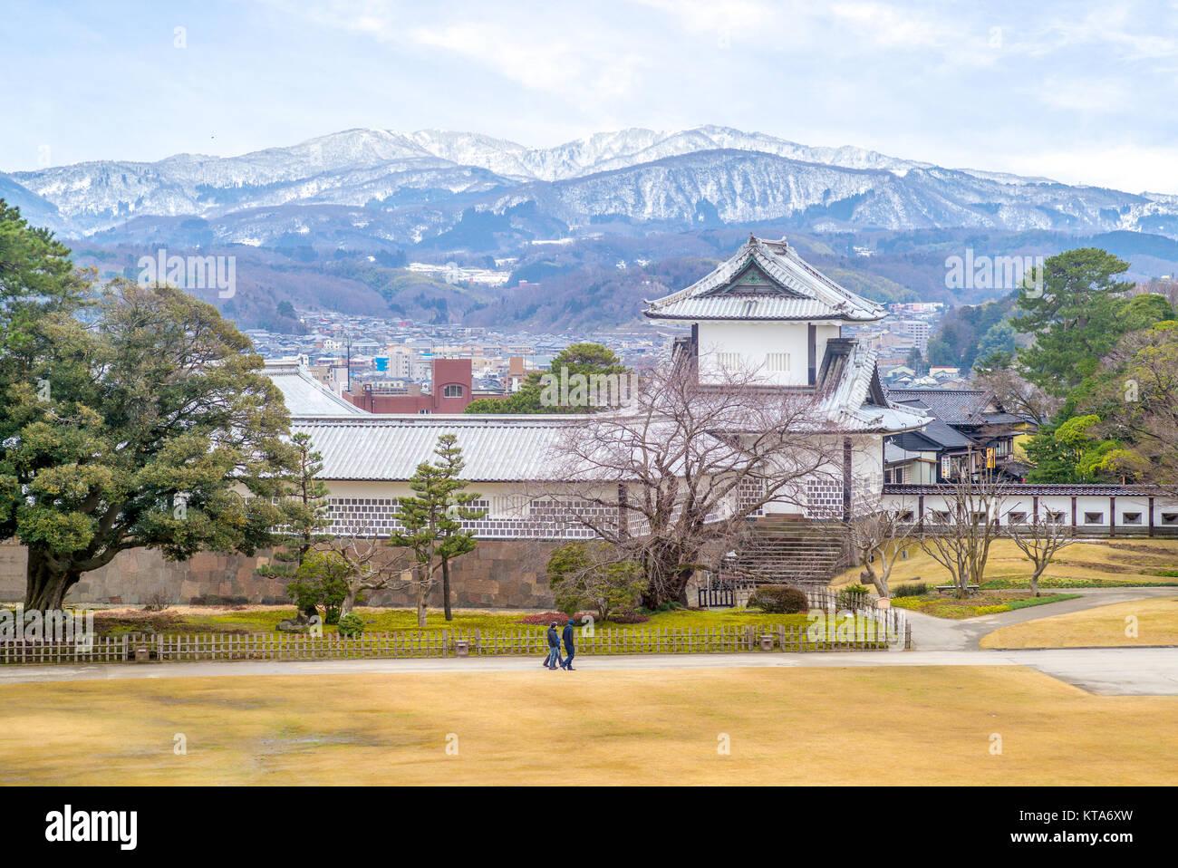 kanazawa castle near Kenroku-en Garden - Stock Image
