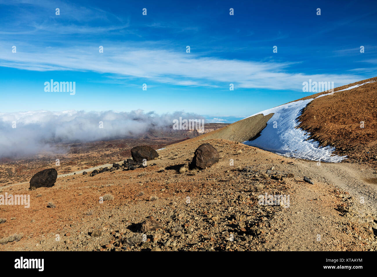 Teide National Park, Tenerife, Canary Islands - A view of `Teide Eggs', or in Spanish `Huevos del Teide'. Stock Photo