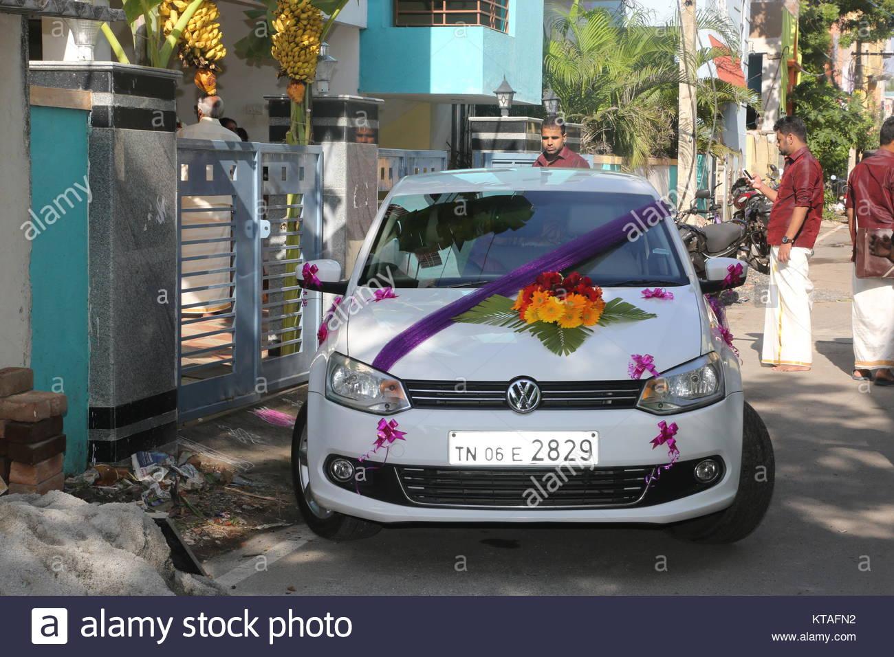 Decorated Wedding Car Stock Photos Decorated Wedding Car Stock