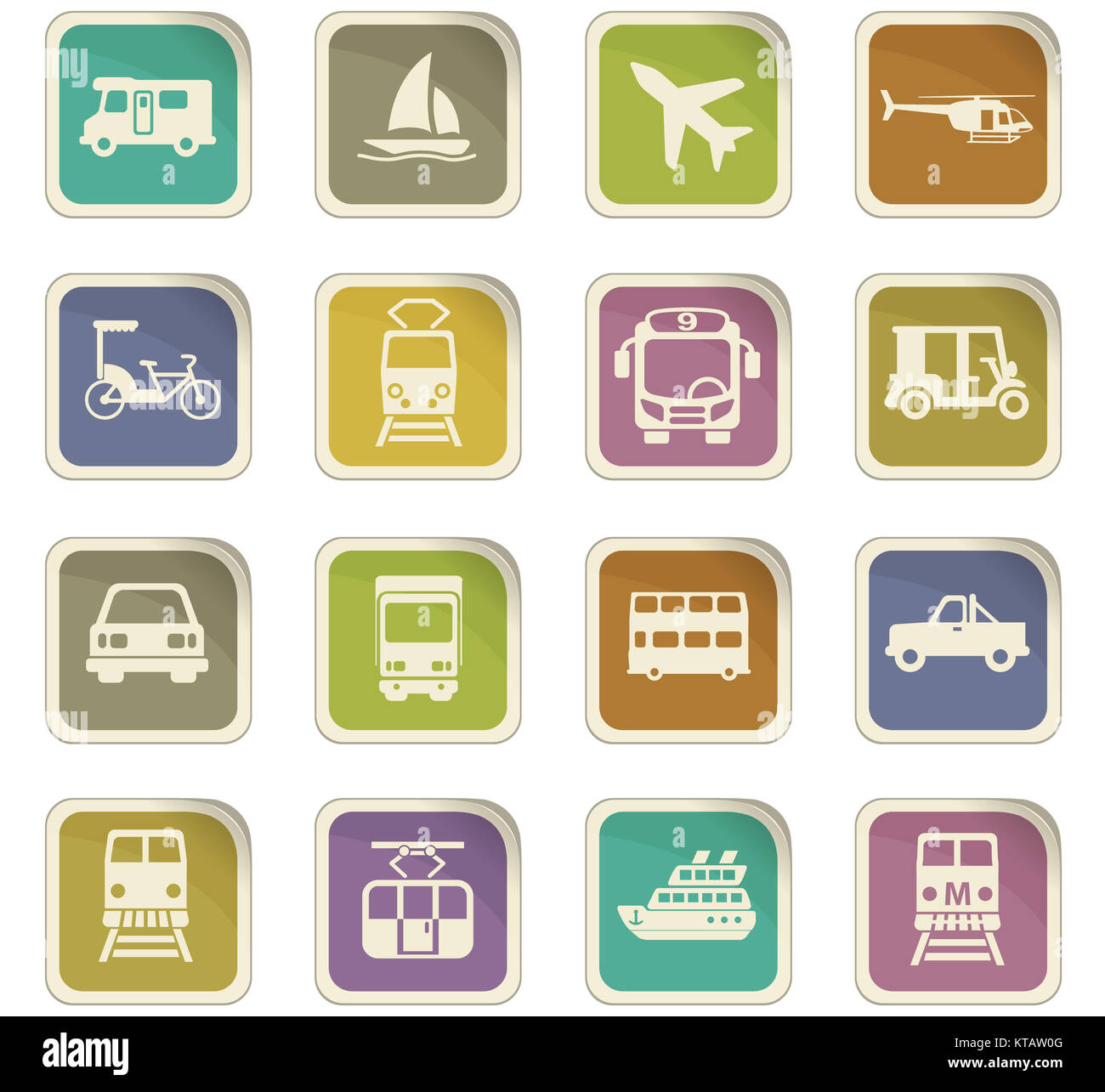 transport icon set - Stock Image