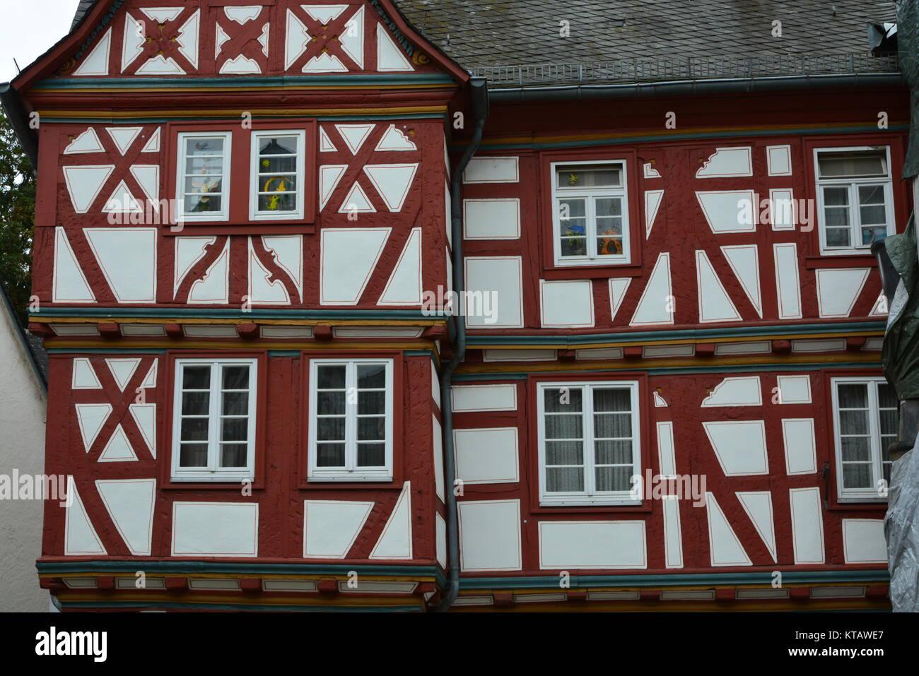 half-timbered house in limburg an der lahn Stock Photo