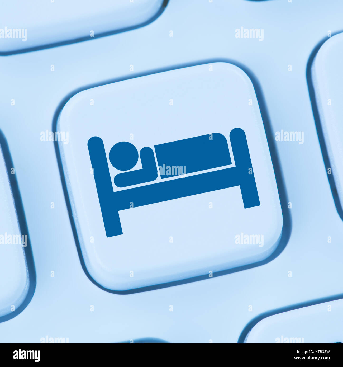hotel accommodation hotel rooms travel online internet web computer - Stock Image