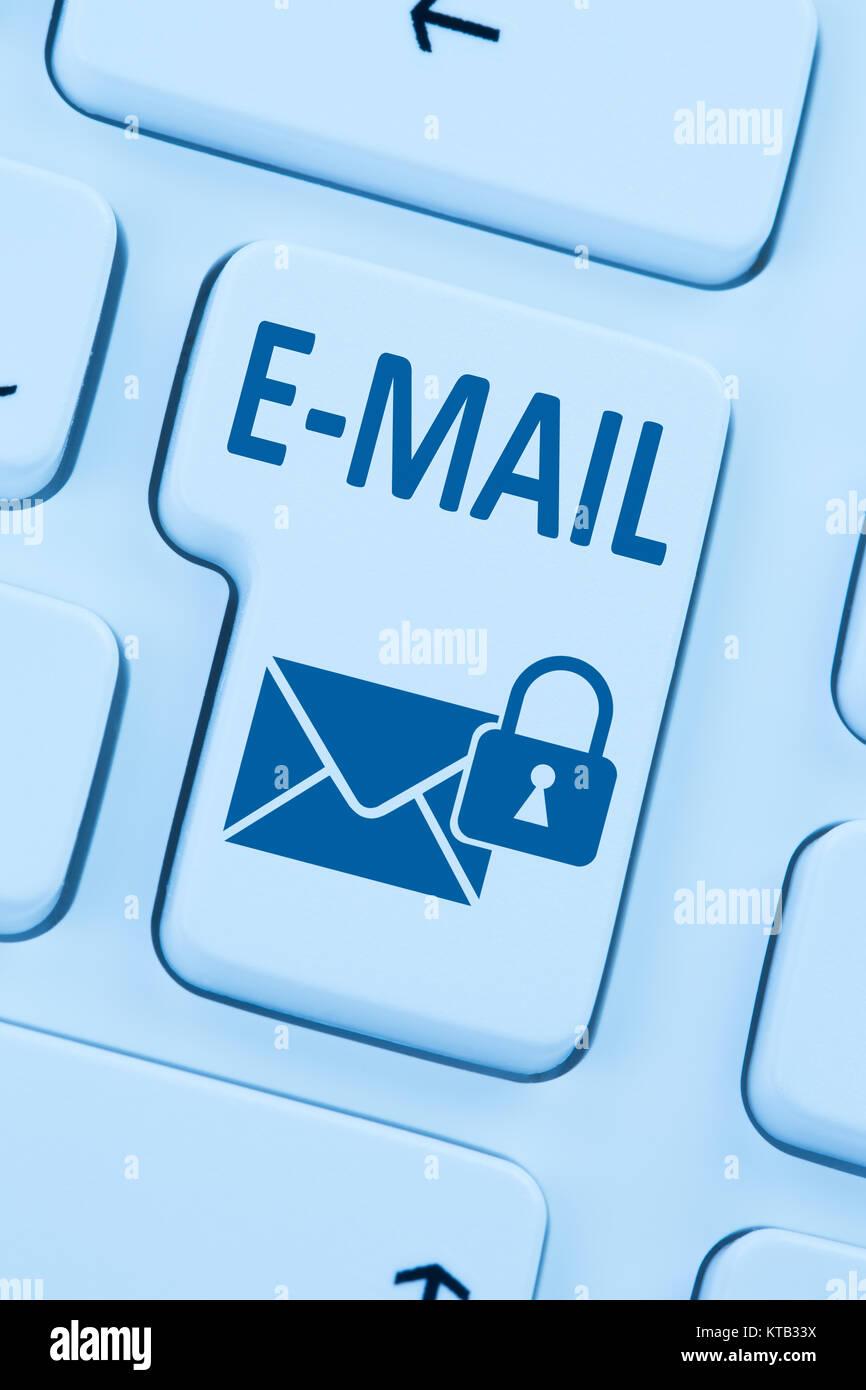Verschlüsselte sichere E-Mail Email Mail senden Internet Brief ...