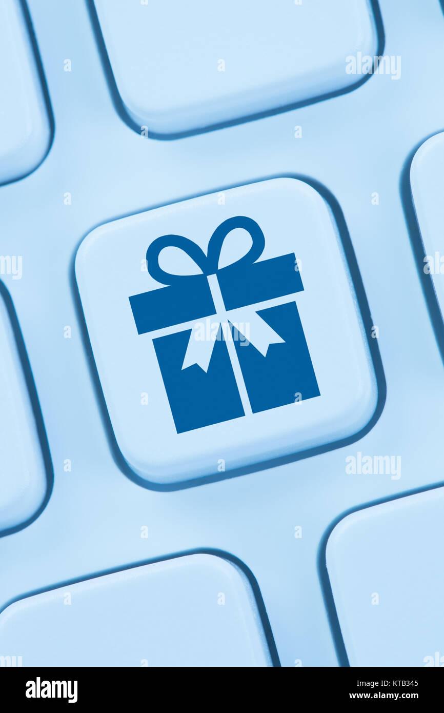 Geschenke Geschenk online Shopping einkaufen bestellen Internet web - Stock Image