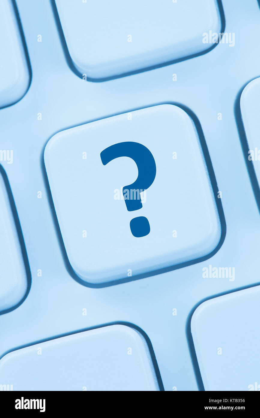 computer keyboard question mark help icon - Stock Image
