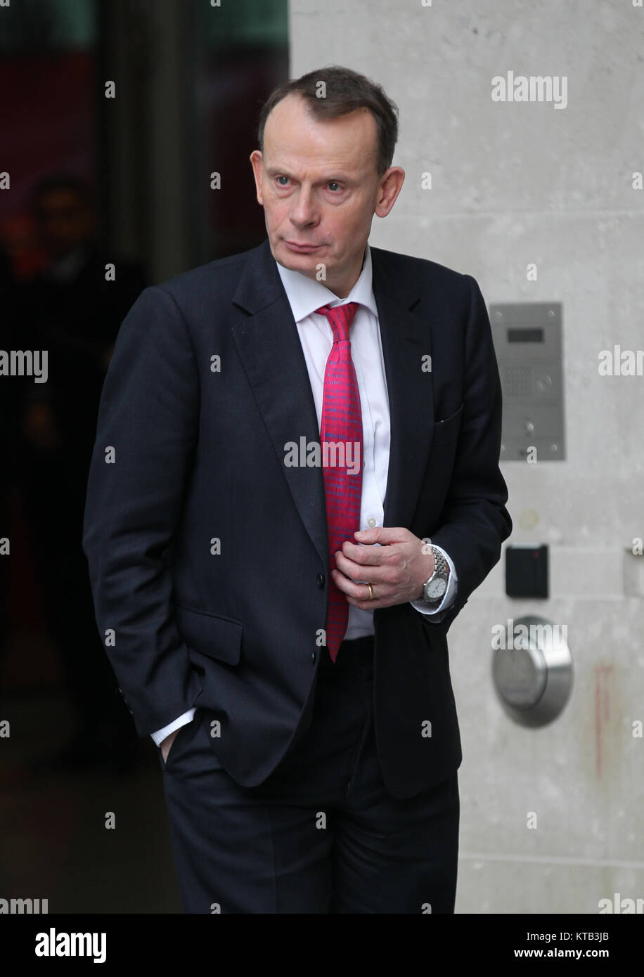 London, UK. 17th December, 2017. Andrew Marr seen at the BBC studios in London - Stock Image