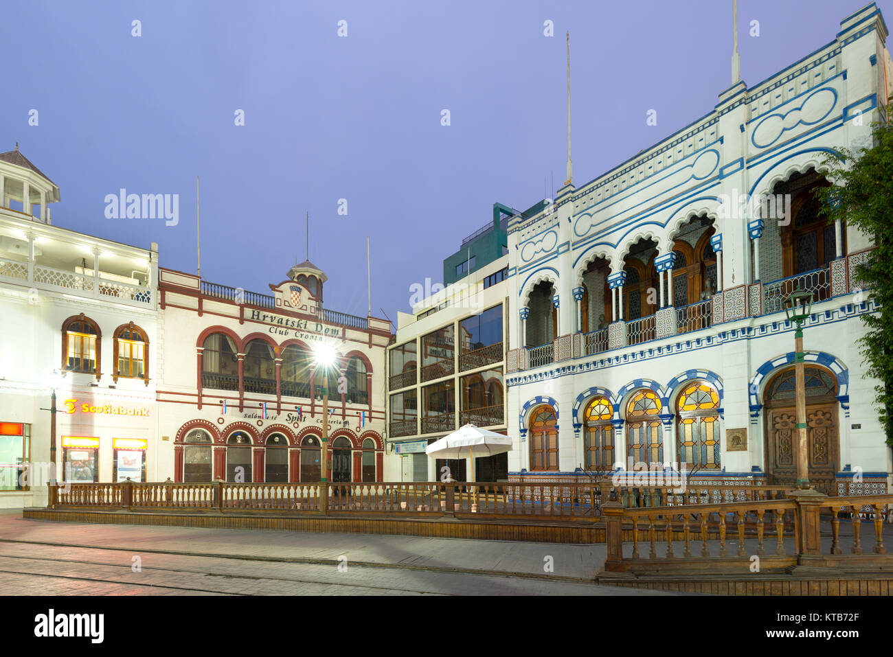 Iquique, Tarapaca Region, Chile - A traditional building of Moorish architecture house of the Spanish social club - Stock Image
