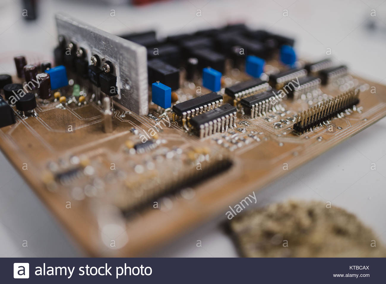 Small electronics engineering projects made by students Stock Photo ...