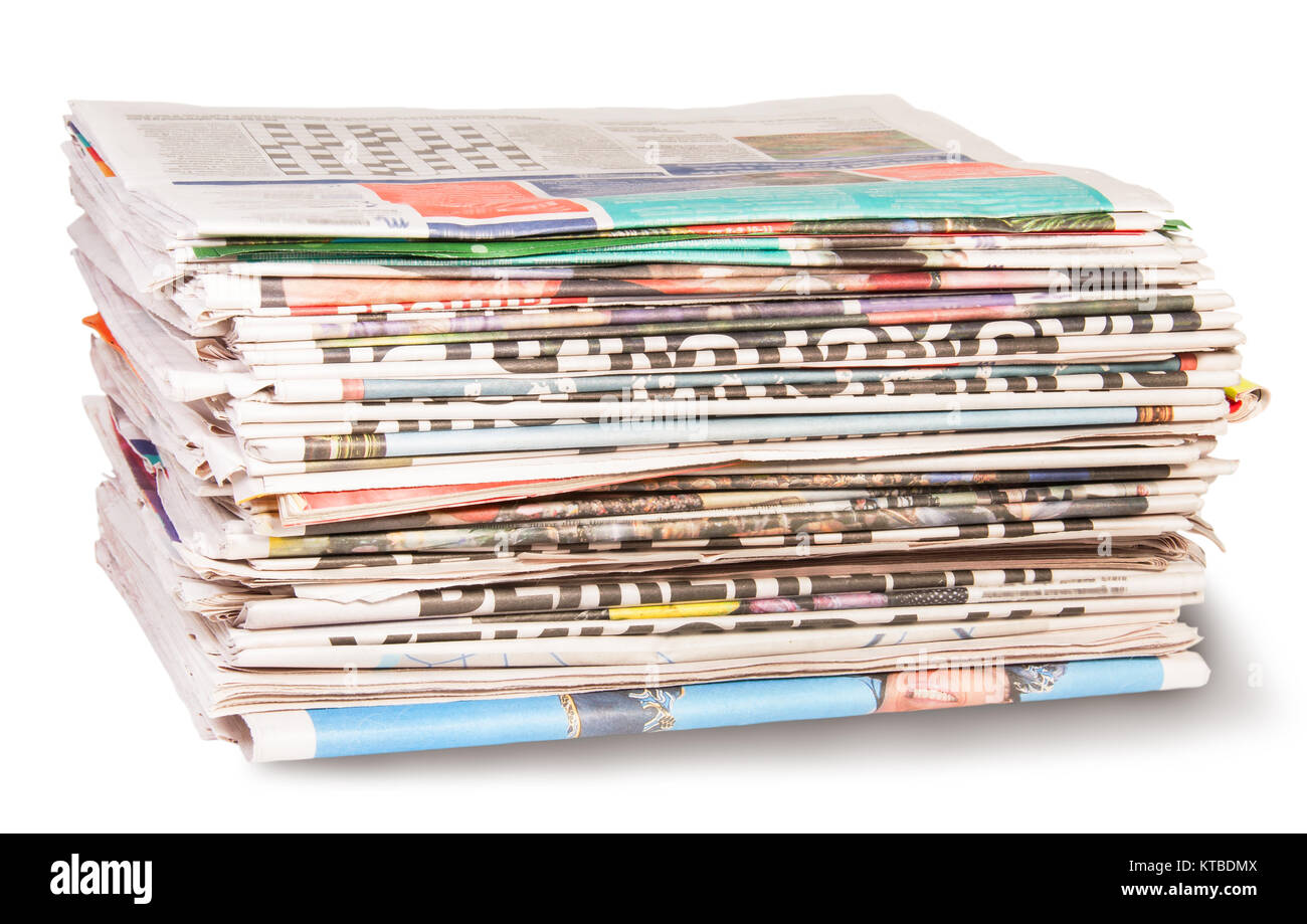 Stack Of Newspapers - Stock Image