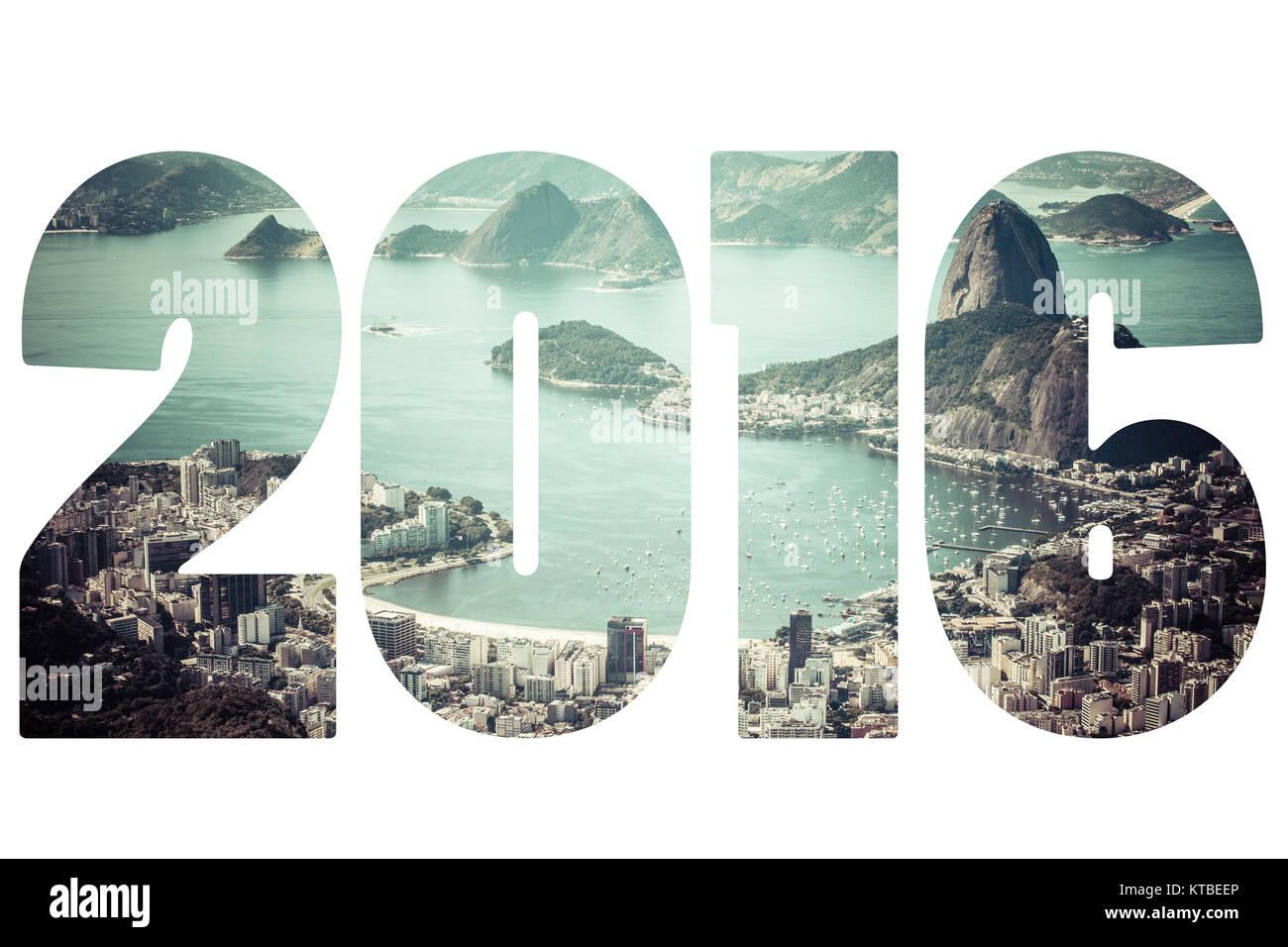 Word 2016 Rio de Janeiro, Brazil - Stock Image