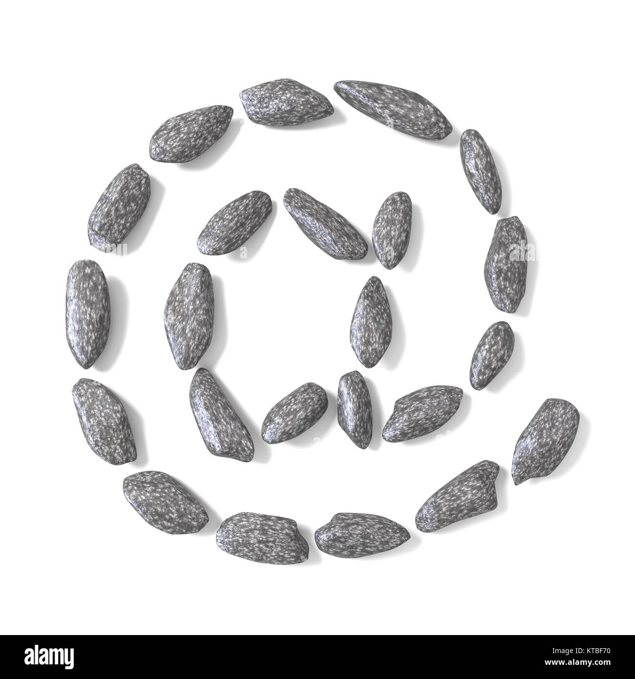 At sign made of rocks 3D - Stock Image