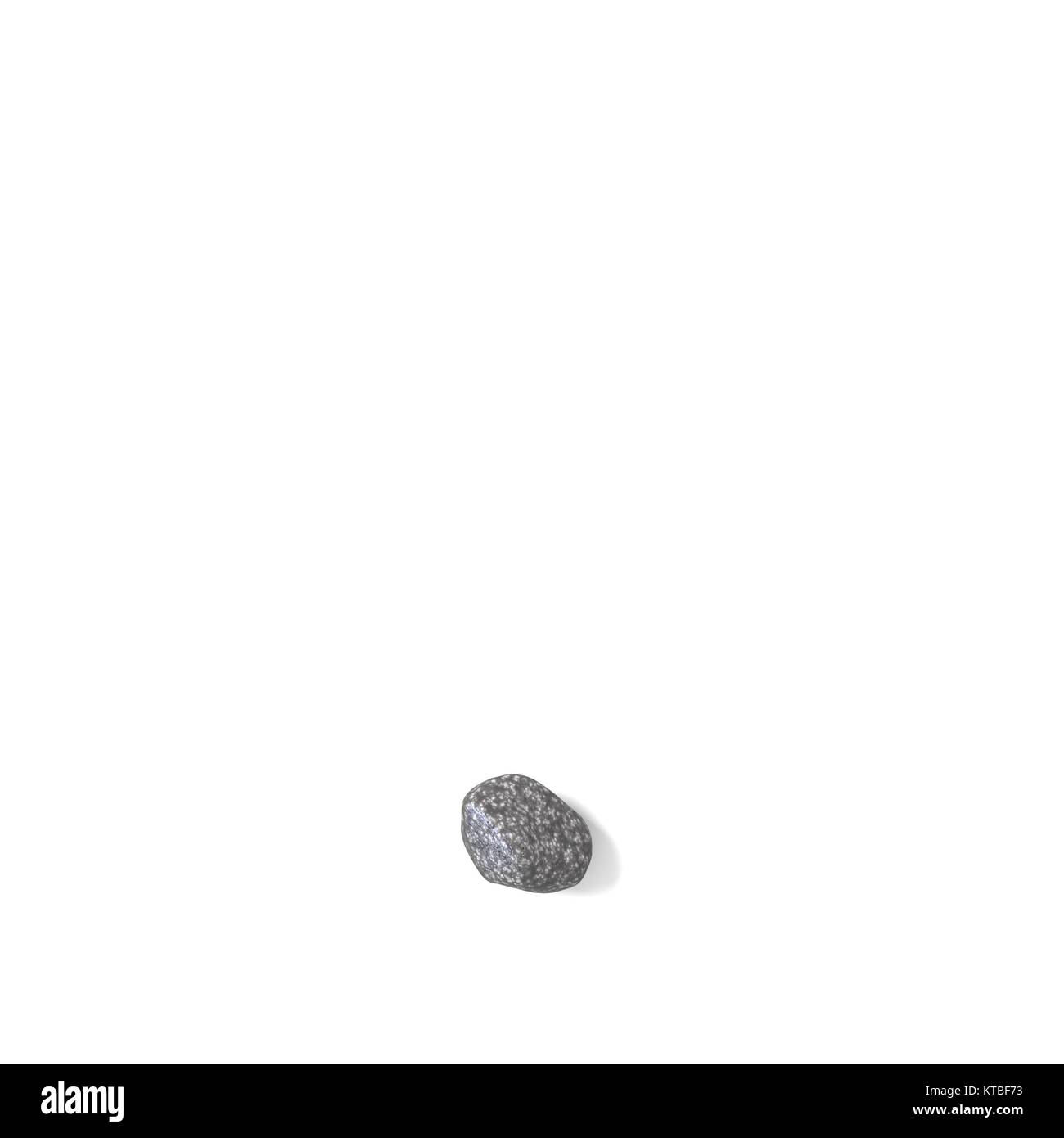 Period punctuation mark made of rocks 3D - Stock Image
