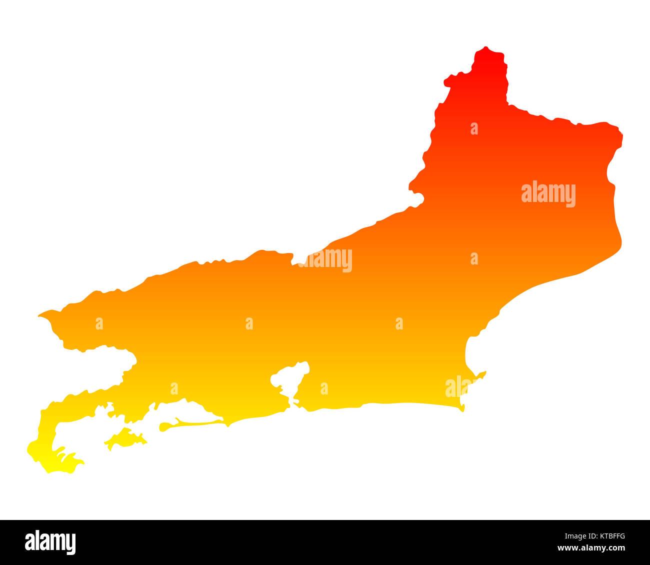 Rio De Janeiro Karte.Karte Von Rio De Janeiro Stock Photo 169898724 Alamy