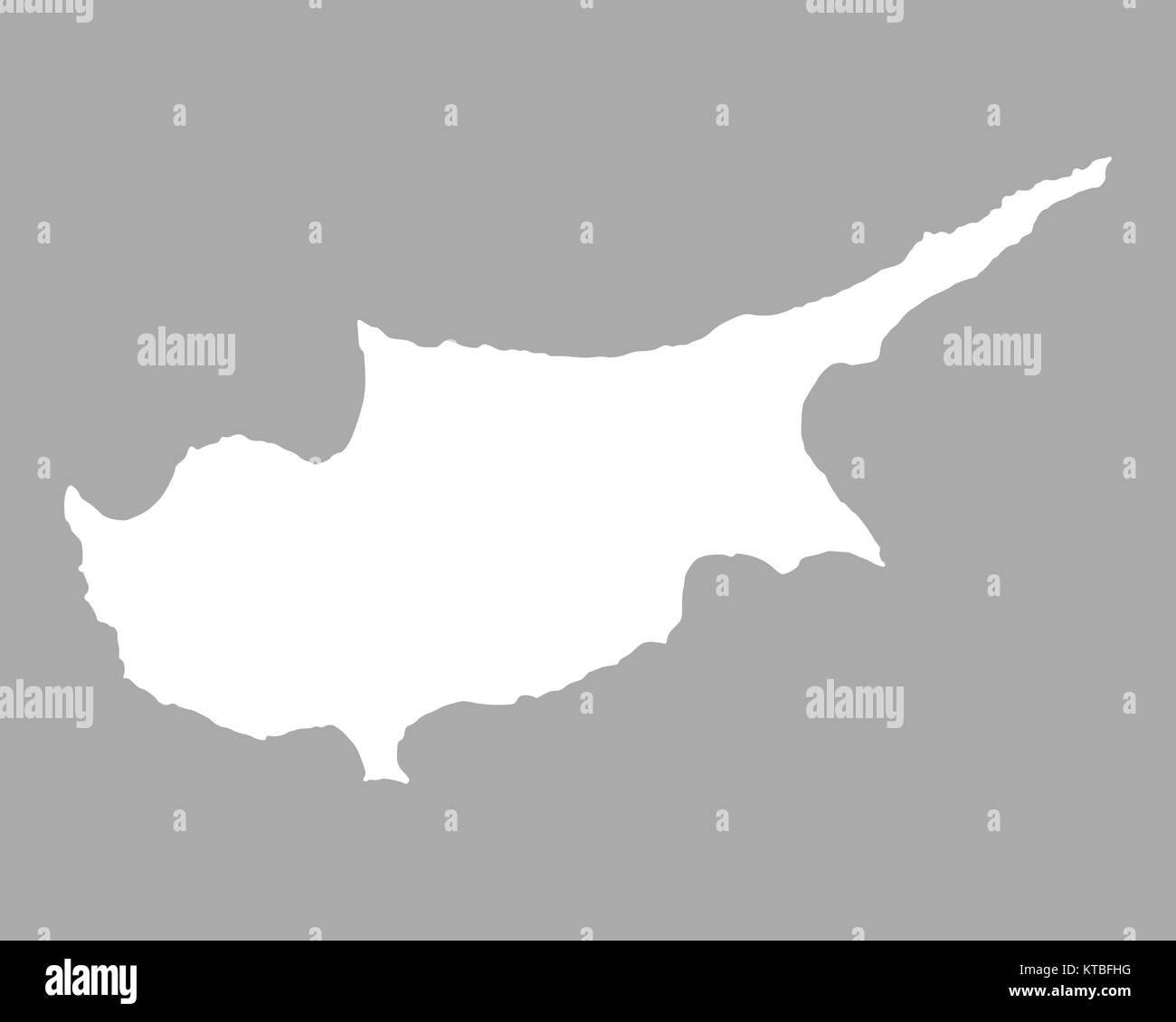 Karte Von Zypern Stock Photo 169898780 Alamy