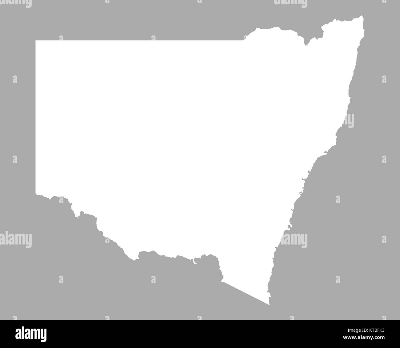 Karte Von New South Wales Stock Photo 169898823 Alamy