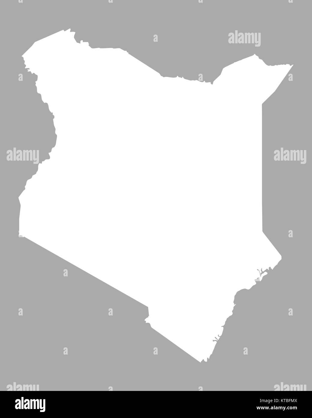 Kenia Karte.Karte Von Kenia Stock Photo 169898874 Alamy