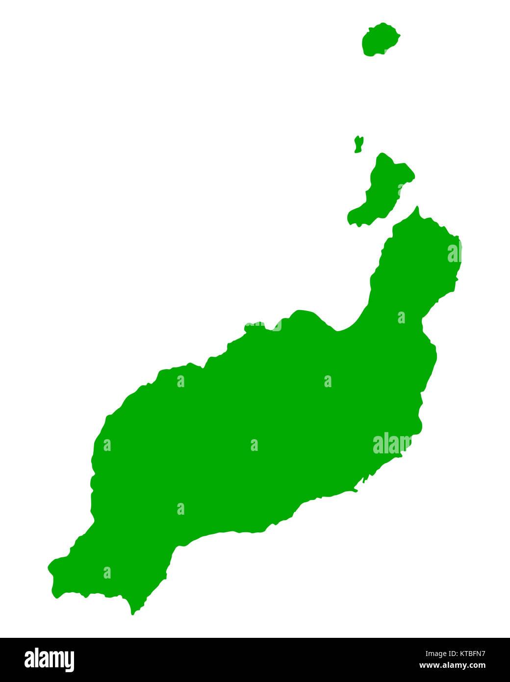 Karte Von Lanzarote Stock Photo 169898883 Alamy