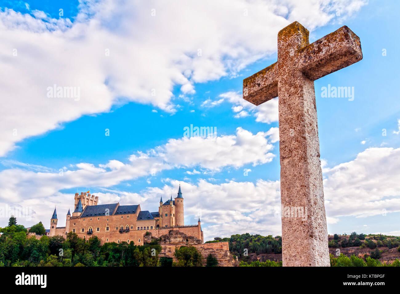 Alcázar. Segovia. Castilla León. España. Ciudad patrimonio de la humanidad. Unesco. - Stock Image