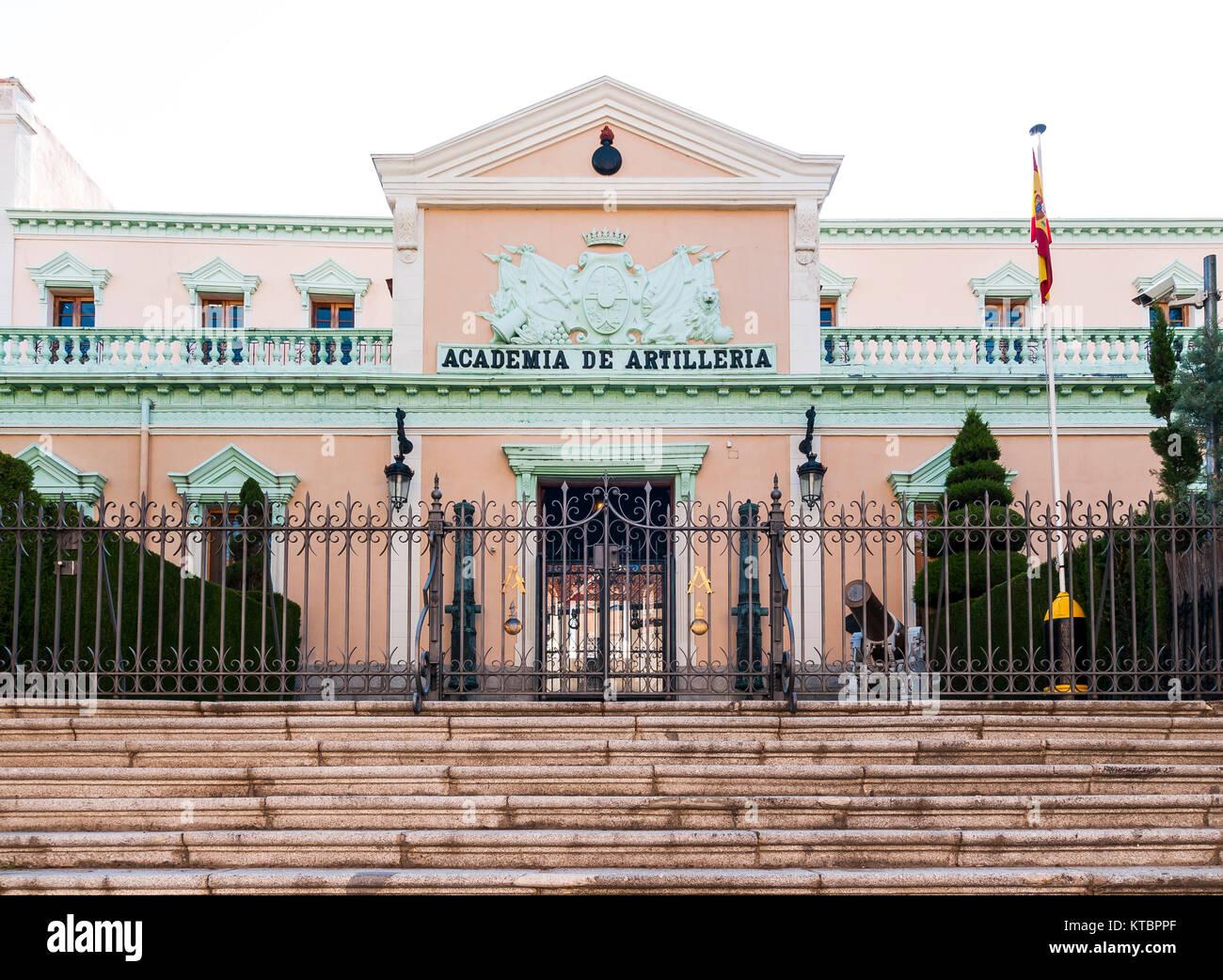 Academia de artillería. Segovia. Castilla León. España. Ciudad patrimonio de la humanidad. Unesco. - Stock Image