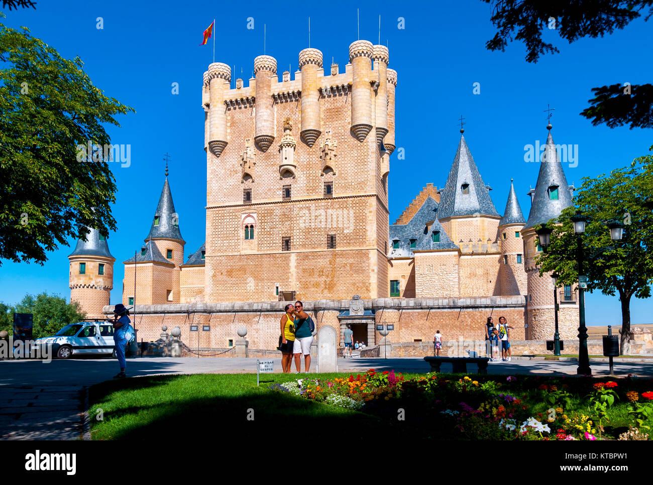 Alcázar de Segovia. Castilla León. España - Stock Image