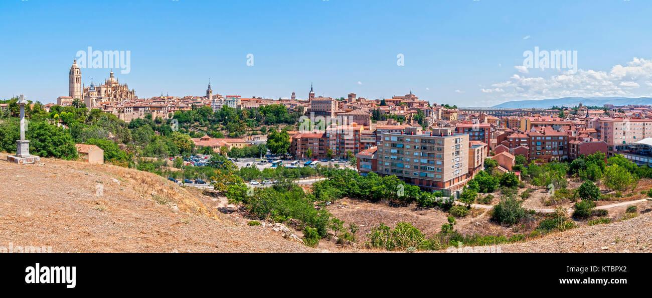 Panorámica de Segovia. Castilla León. España. Ciudad patrimonio de la humanidad. Unesco. Stock Photo