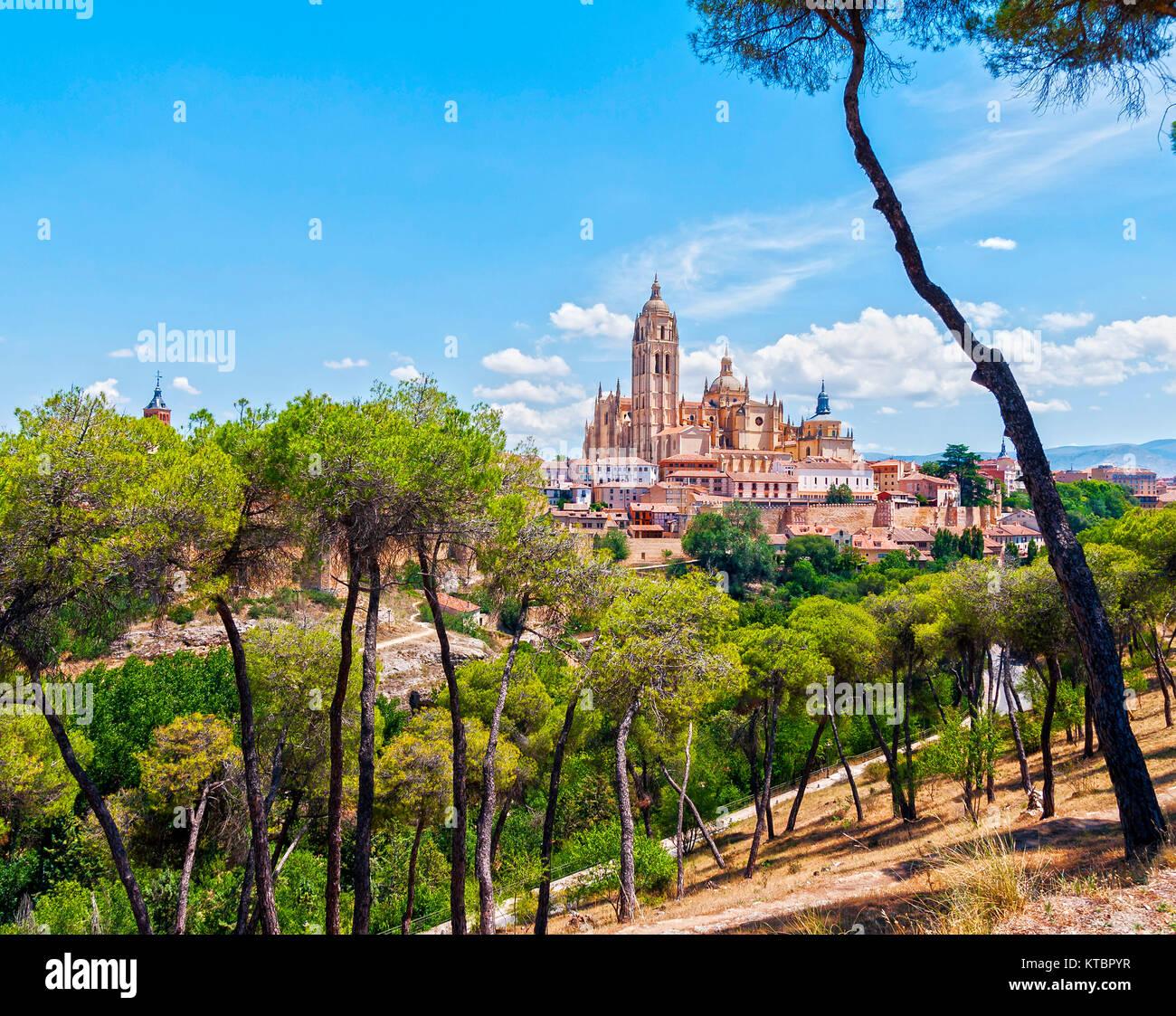 Catedral de Segovia. Castilla León. España. Ciudad patrimonio de la humanidad. Unesco. - Stock Image