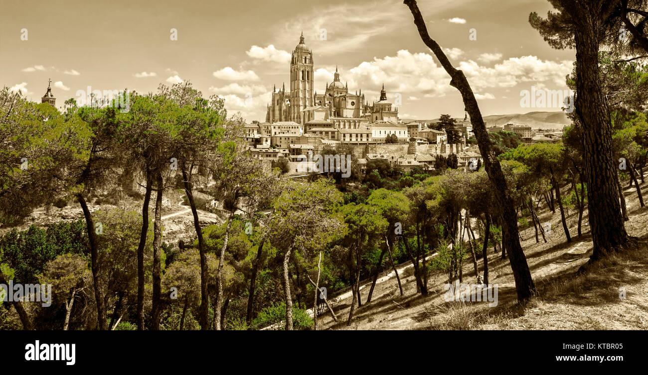 Catedral de Segovia. Castilla León. España. Ciudad patrimonio de la humanidad. Unesco. Stock Photo