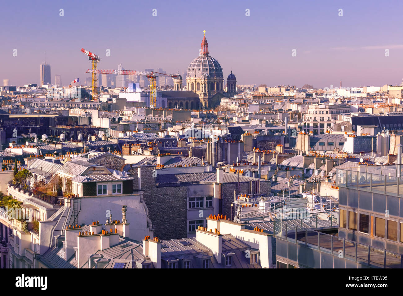 City rooftops Paris, France - Stock Image