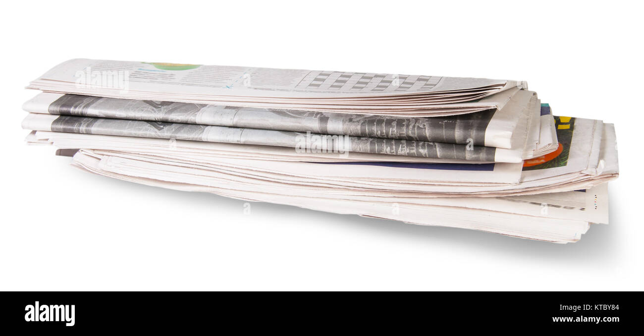 Rolled Of The Newspaper - Stock Image