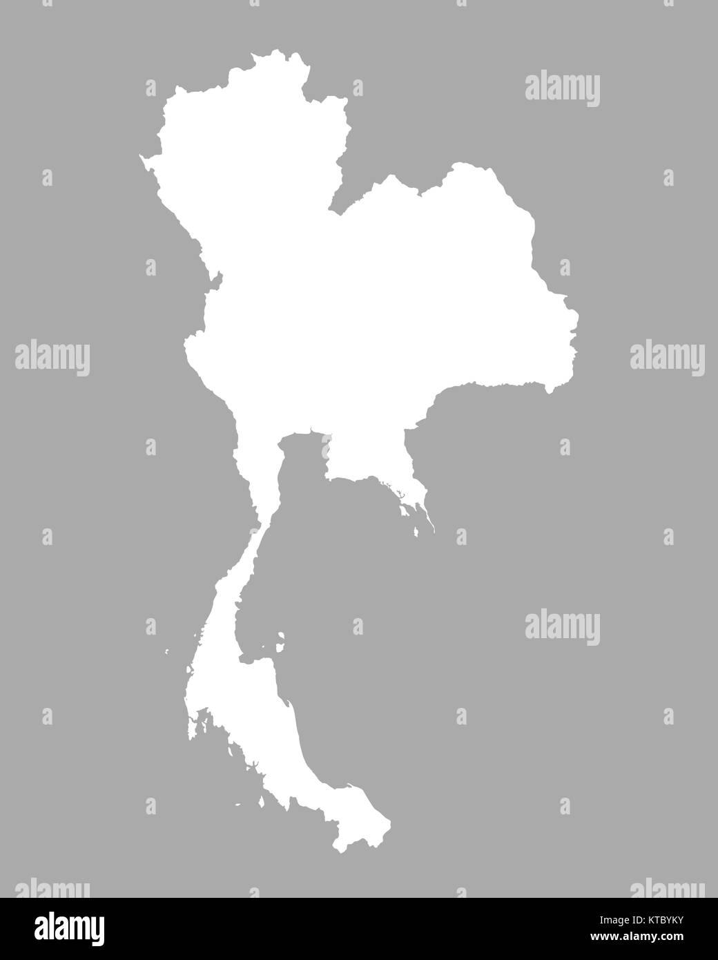 Thailand Karte.Thailand Karte Black And White Stock Photos Images Alamy