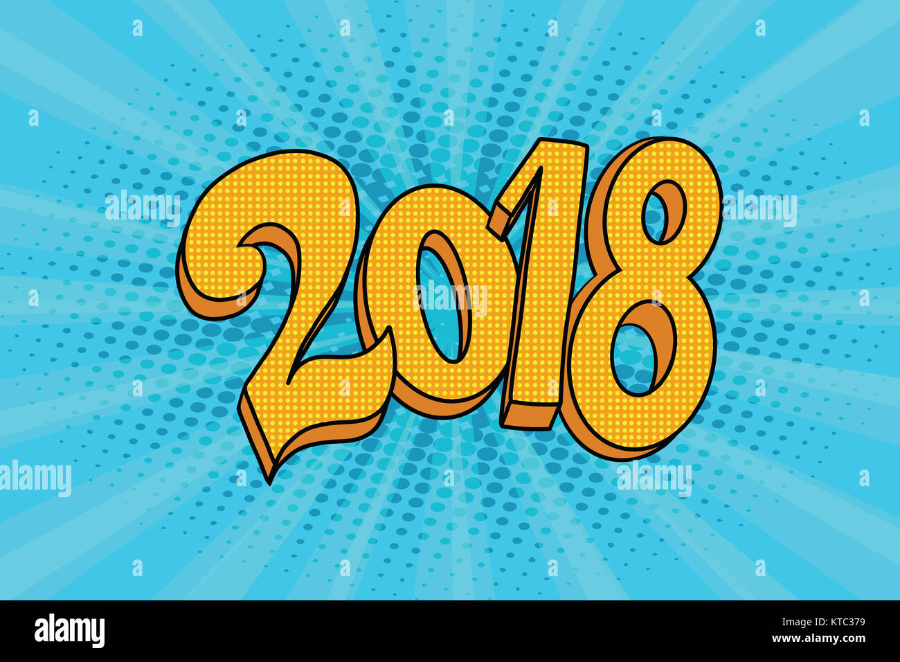 2018 two thousand eighteen year - Stock Image