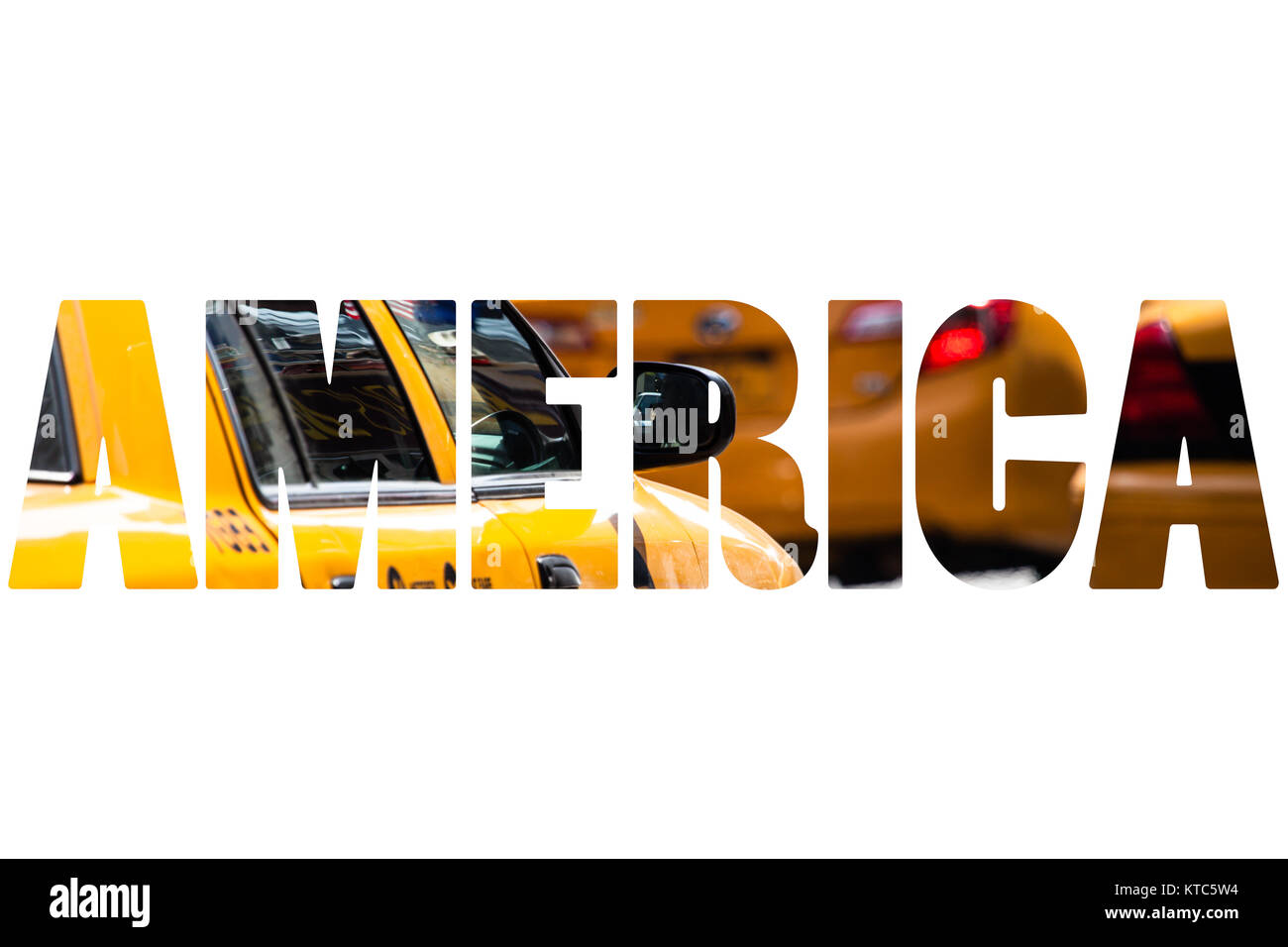 Word AMERICA over traditional symbols. - Stock Image