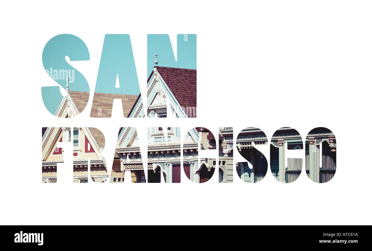 Alamo Square, San Francisco, USA - Stock Image