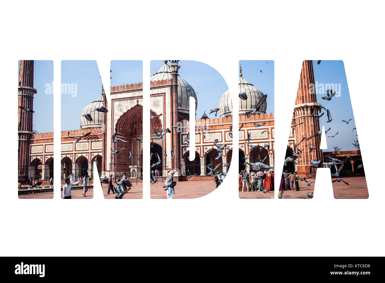 Jama Masjid Mosque, old Delhi, India. - Stock Image
