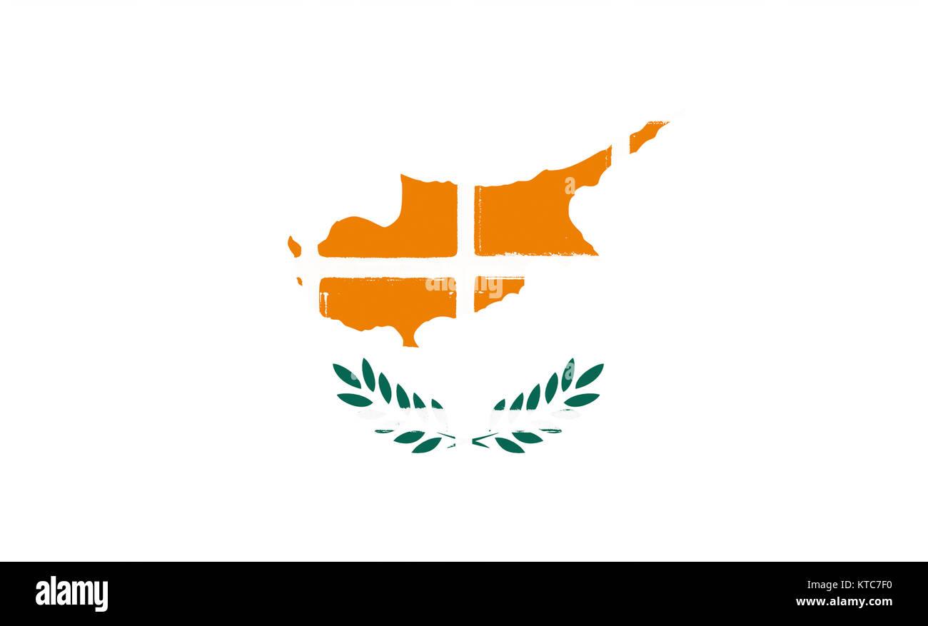 Glazed tiles cyprus flag - Stock Image