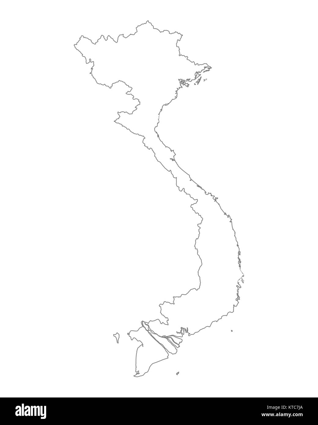 Map Vietnam Black and White Stock Photos & Images - Alamy