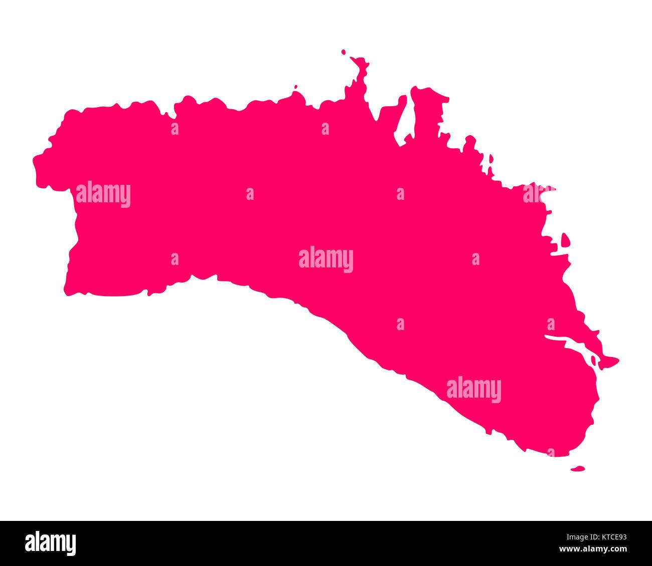 Karte von Menorca - Stock Image