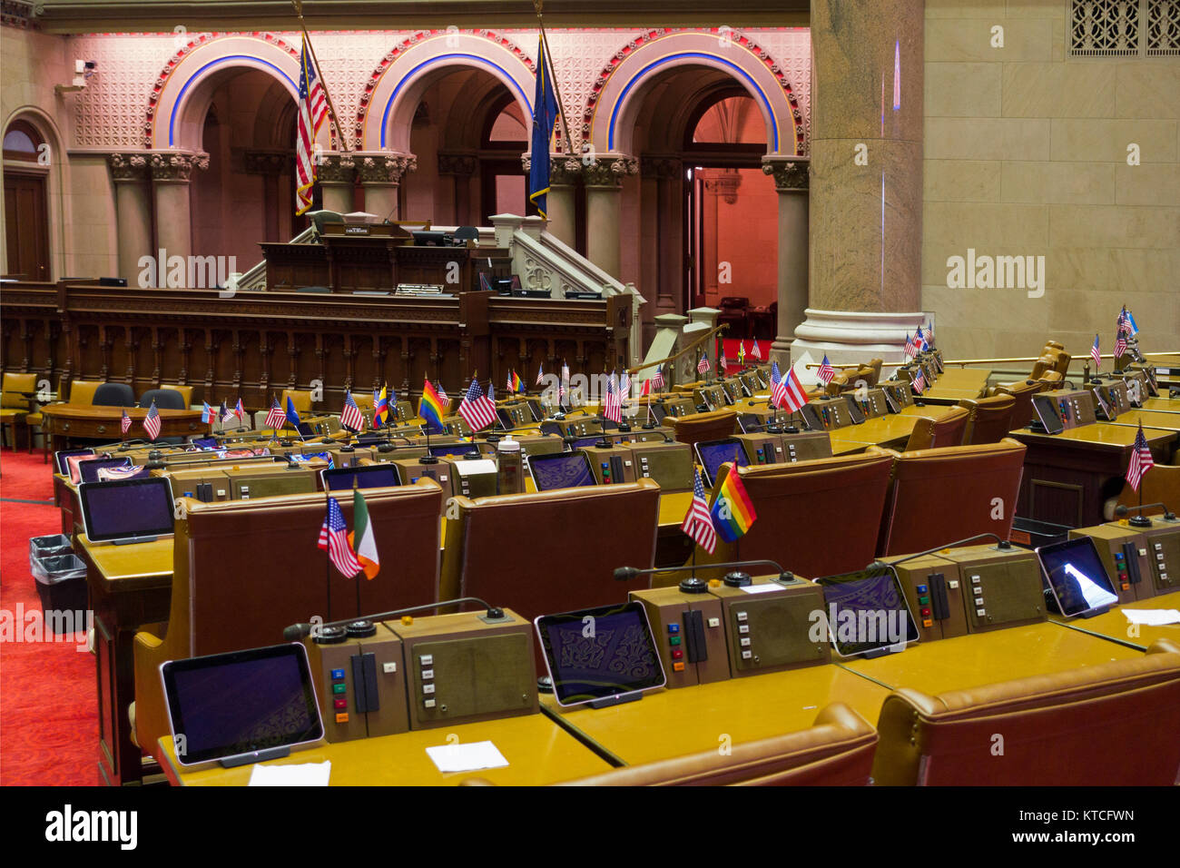 The Entire State is New York and Albany is its Capital ...  State Street Albany Interior