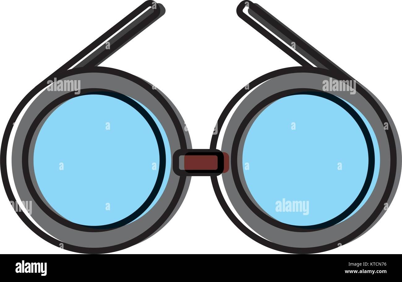 904fb2fc74fbb Glasses round frame symbol Stock Vector Art   Illustration