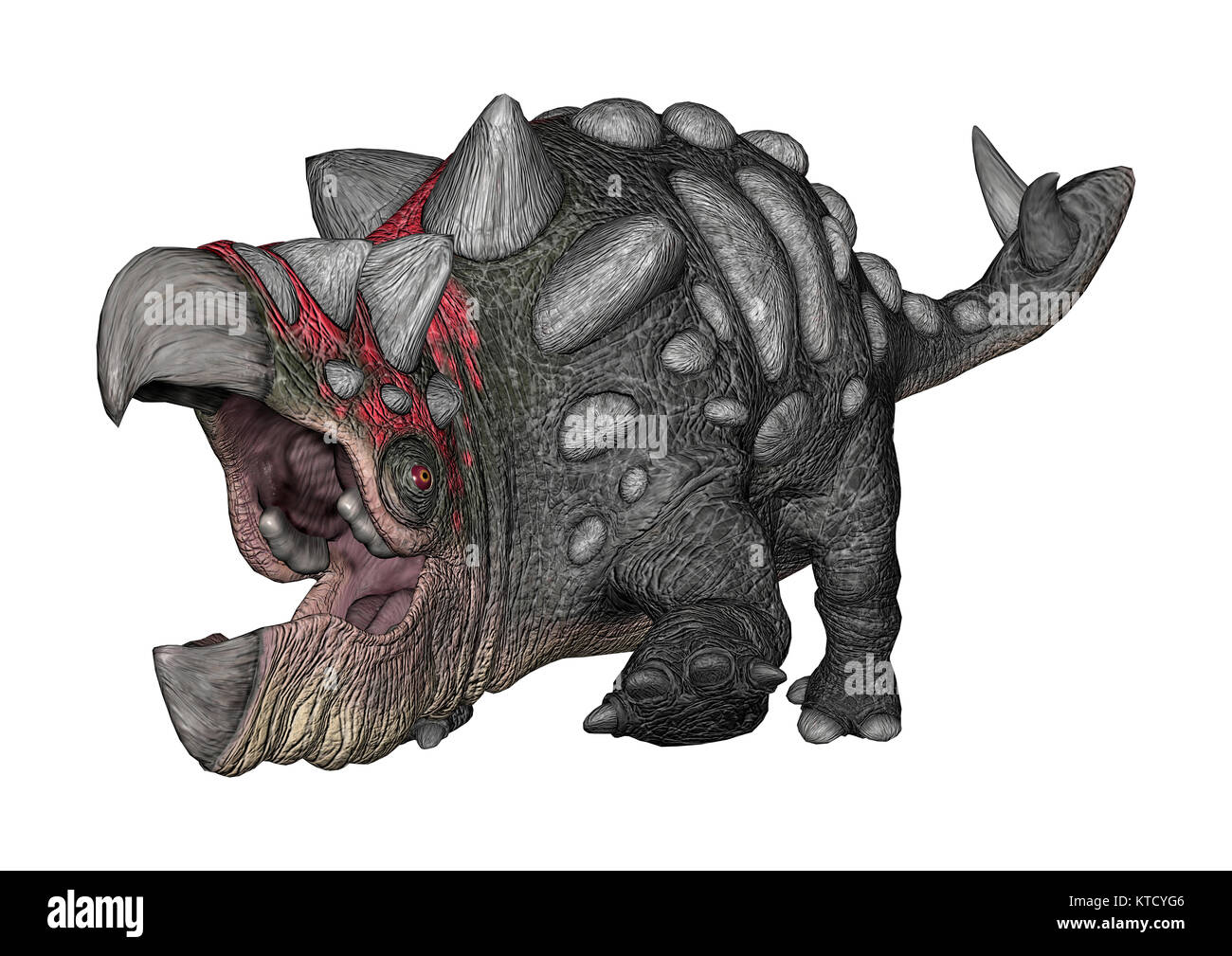 3D Rendering Fantasy Animal on White - Stock Image